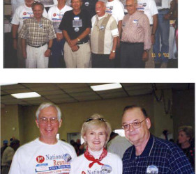 2 photos of former internee groups