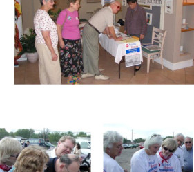 3 photos of former internees re-visiting Crystal City, TX Internment Camp in 2002