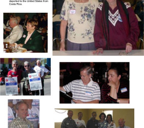 6 photos of former internees, visiting Crystal City, TX in 2002
