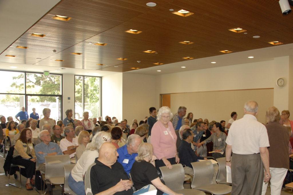 large room, full of people