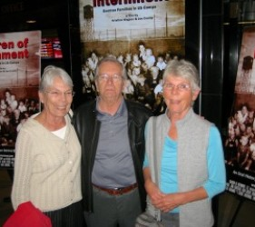 former internees from Costa Rica at documentary screening
