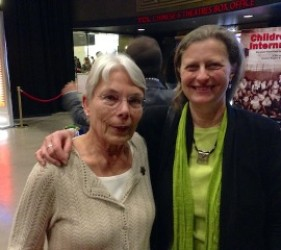 Heidi Donald with Karen Ebel at documentary screening