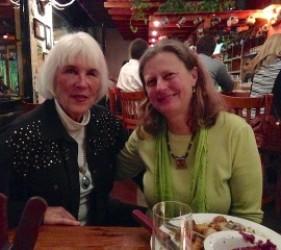 Suzy Kvamann, former internee, with Karen Ebel