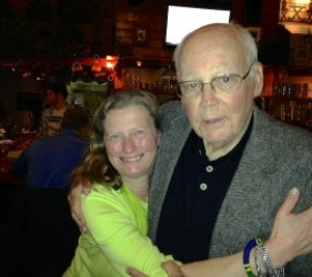 Karen Ebel with John Christgau, at documentary screening