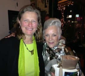 Karen Ebel and former internee at documentary screening