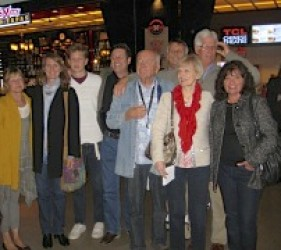 former internees and families at documentary screening