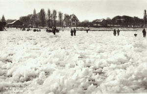 The frozen Rhine in 1929 Ebel Family Collection
