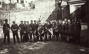 Members of the German Youth Red Cross. Max in rear next to arrow. Ebel Family Collection