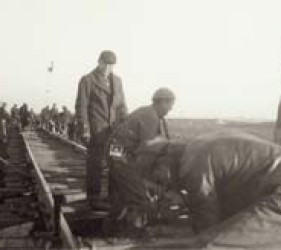 internees work on railroad
