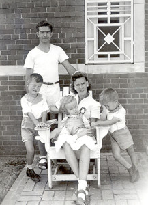 Graber Family in Seagoville, Texas 1943 Werner Paul, Theo, Teddy, Emmy and Gunther