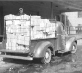 truck filled with packages