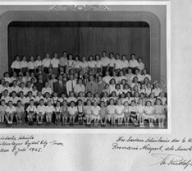 a school portrait, with students and teachers