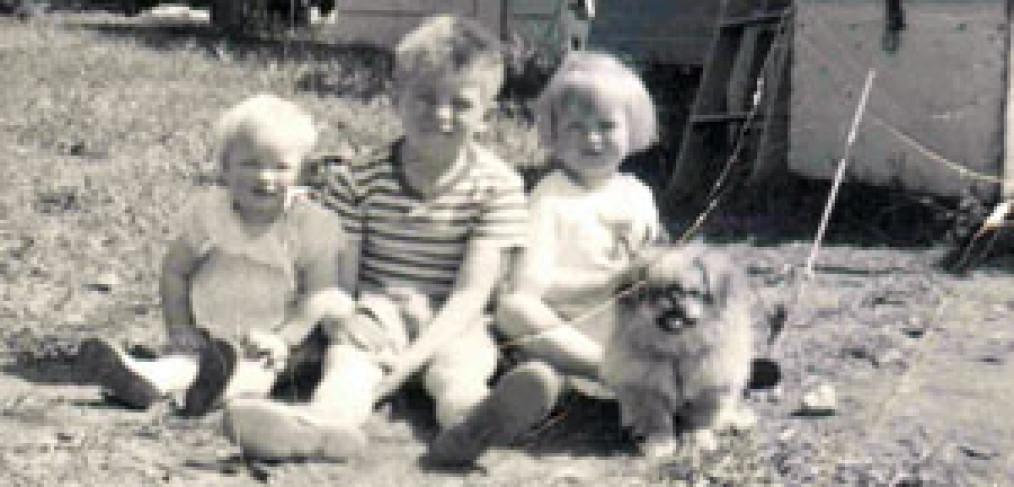 Werner Ahrens' three children