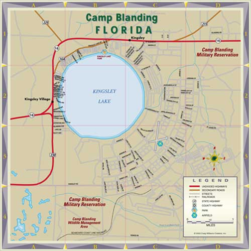 Camp Blanding Map Courtesy Bernd Leber