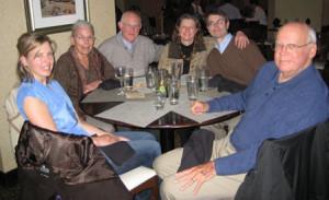 Decompressing! (From left: Jen Christgau, Heidi & Bruce Donald, Karen Ebel & Steve Root, John Christgau)