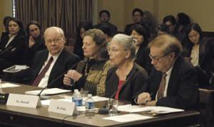 European American/Latin American panel from left: John Christgau, Karen Ebel, Heidi Donald, and John Fonte