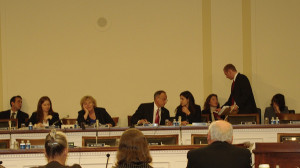 —European American and Latin American panel before the Subcommittee— Chairwoman Zoe Lofgren, third from left; Ranking Member Steven King, fourth from left