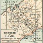 map of the isthmus of Panama