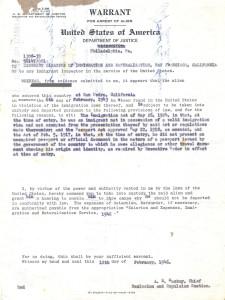 Arrest Warrant, 2 February 1947