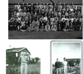 3 photos of staff of Crystal City, TX Internment Camp