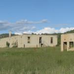 Ruins in grassy field