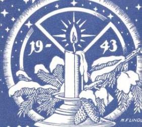 Christmas card, 1943