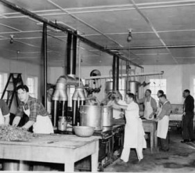 kitchen staff, Ft. Lincoln, North Dakota