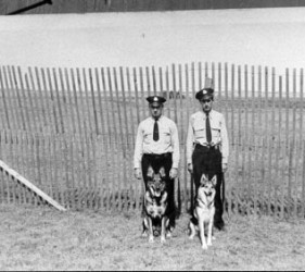2 guards with 2 dogs