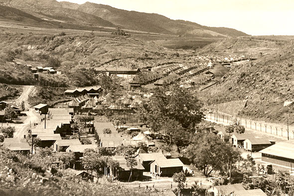 view of valley and buildings