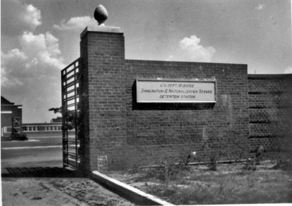 brick wall with sign indicating Seagoville