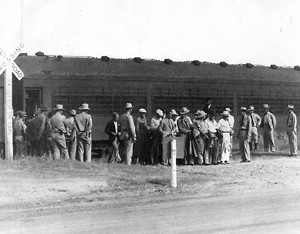 German internees arriving at Camp Kenedy. National Archives Photos