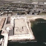 overview of site of East Boston temporary detention facility
