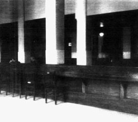 image of chairs facing counter with space on the other side for internees