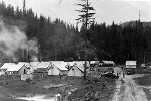 Summer of 1944 at Forest Camp on Cougar Creek, Idaho - Collection of John Christgau