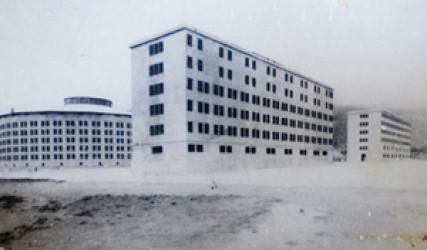 group of multi-story buildings