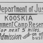 Kooskia Internment Camp sign
