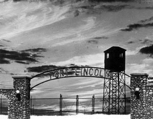 Ft. Lincoln Gate and Guard Tower at Sunset John Christgau Collection