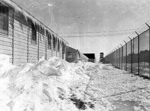 Winter inside the fence at Ft. Lincoln John Christgau Collection
