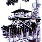 sketch of guard tower