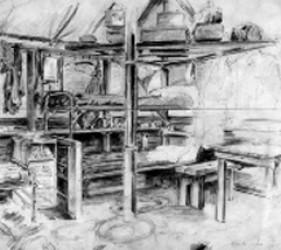 tent interior sketch