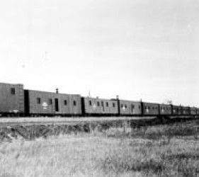 boxcar homes of internee railroaders