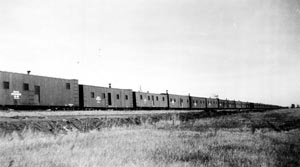 Boxcar homes of the internee railroaders in North Dakota 1943 Max Ebel Collection