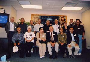 Former German and Japanese internees at Ft. Lincoln (with family). October 2003