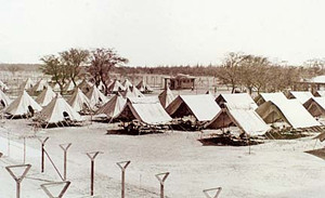 Sand Island Internment Camp, Resource Center of Japanese American Cultural Center Photo.