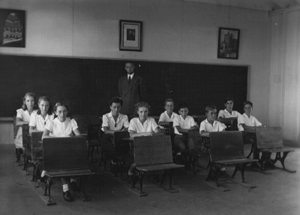 Classroom of Arthur Jacobs at Crystal City Family Internment Camp