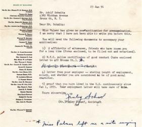 Schmitz letter, 1