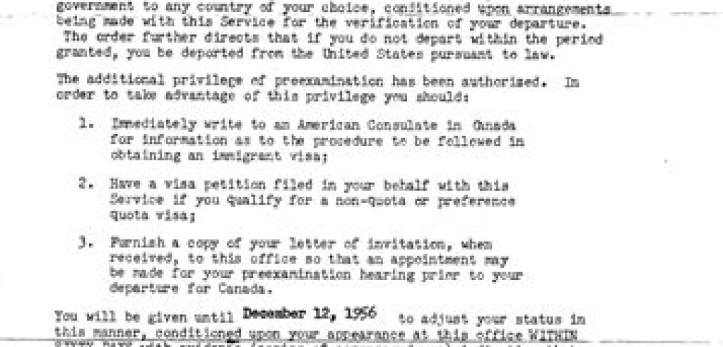 Schmitz immigration letters, 2
