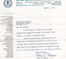 Schmitz immigration letters, 5