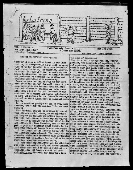 Camp Forrest newspaper